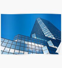 Blue Sky on Office Building Facade Poster