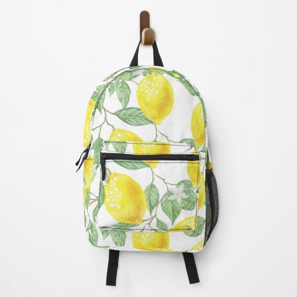 summer lemon pattern  Backpack