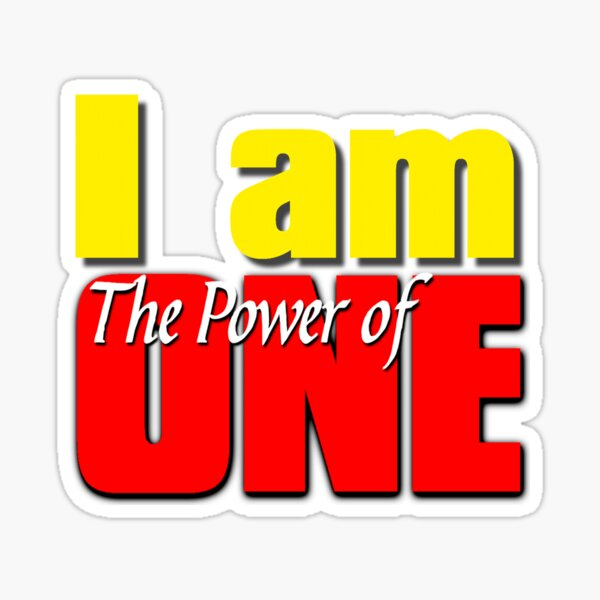 I AM The Power of ONE Sticker