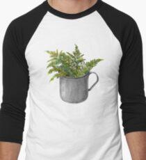 Mug with fern leaves Men's Baseball ¾ T-Shirt