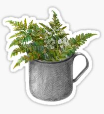 Mug with fern leaves Sticker