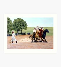 Suzzi Q Whirling the Rope Art Print