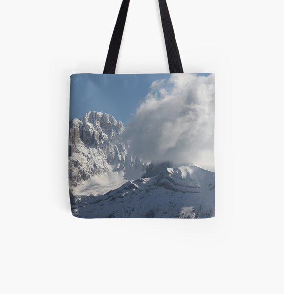 The mountains at La Mur All Over Print Tote Bag