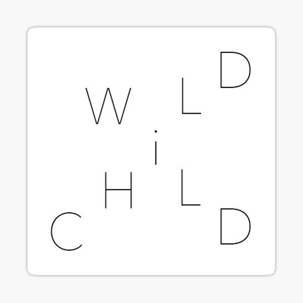 wildchild logo Sticker