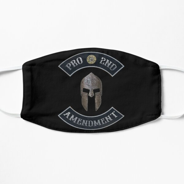 Pro 2nd Amendment in Rockers with Spartan Helmet with Black Background Mask
