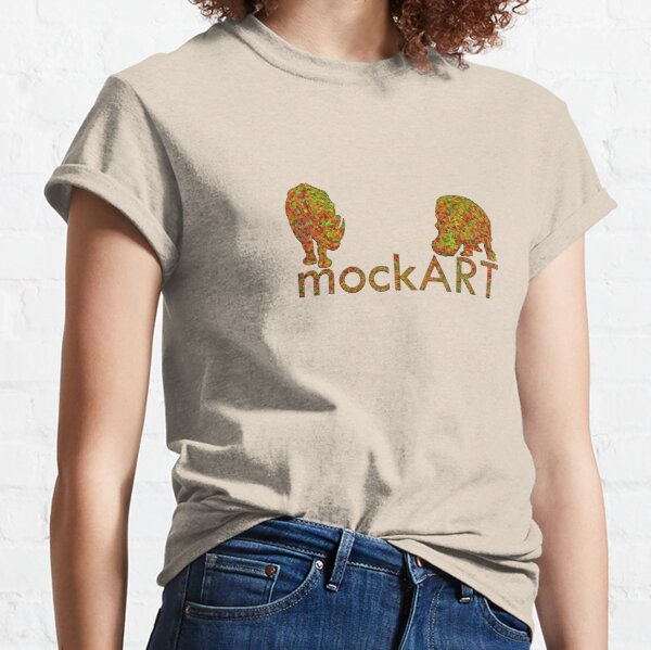 mockART - Colourful Hippo and Rhino Classic T-Shirt