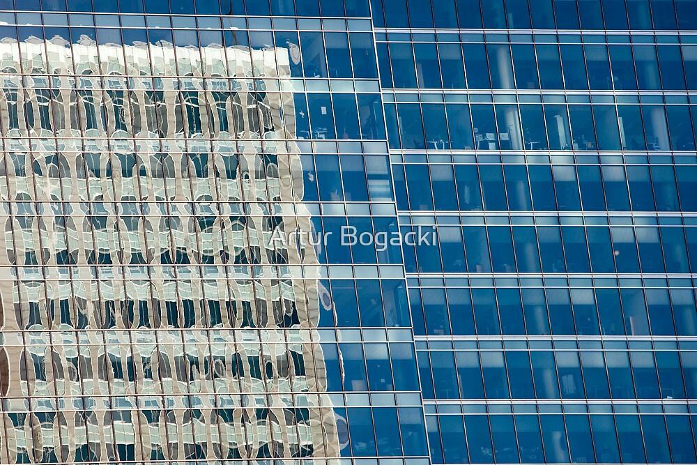 Abstract Reflections on Skyscraper Windows by Artur Bogacki