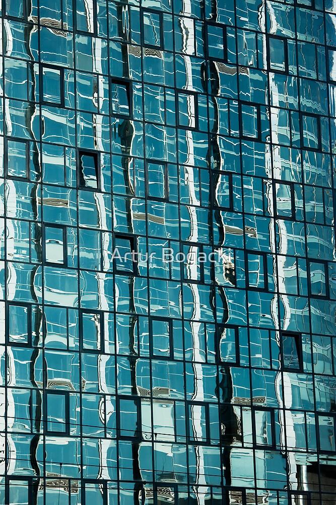 Abstract Reflection on Skyscraper Windows by Artur Bogacki