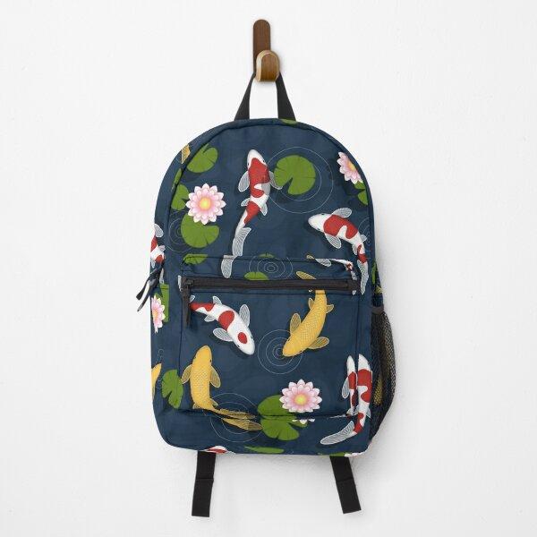 Japanese Koi Fish Pond Backpack