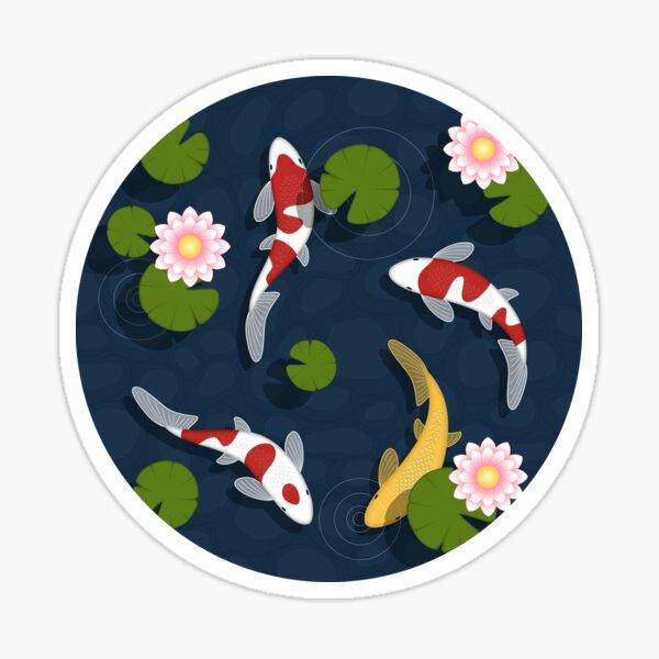 Japanese Koi Fish Pond Sticker