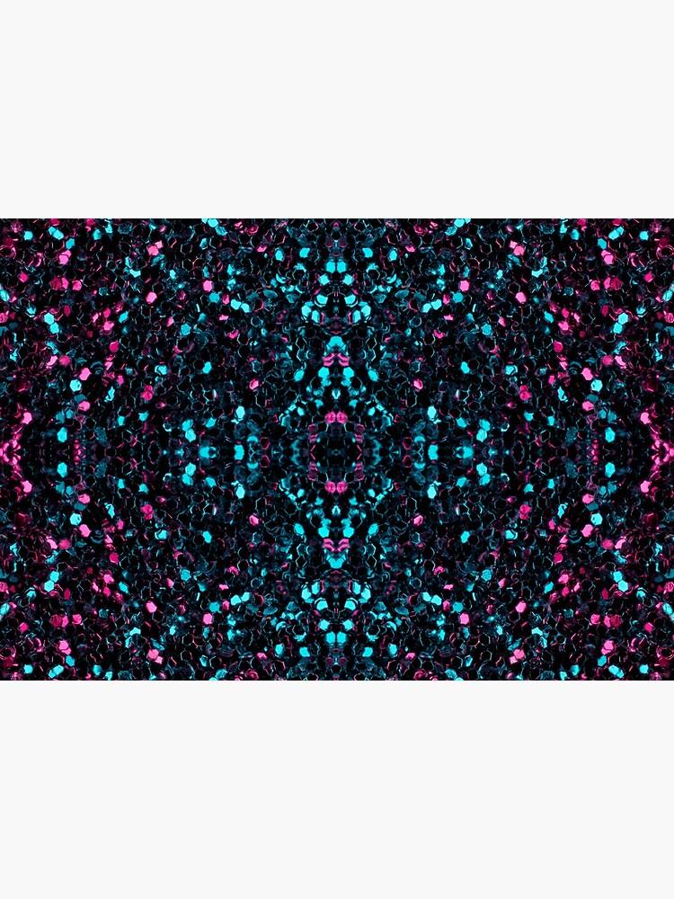 Sparkly pink blue mosaic glitter sparkles Mandala by PLdesign