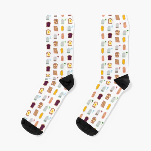 Cute Tea and Toast  Socks