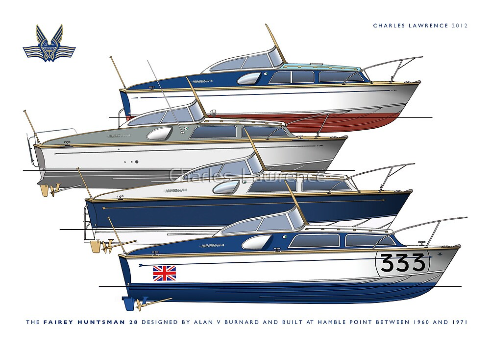 Fairey Huntsman 28s by Charles  Lawrence