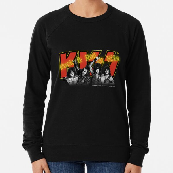 Kiss - Rock & Roll All Nite - Red and Yellow Lightweight Sweatshirt