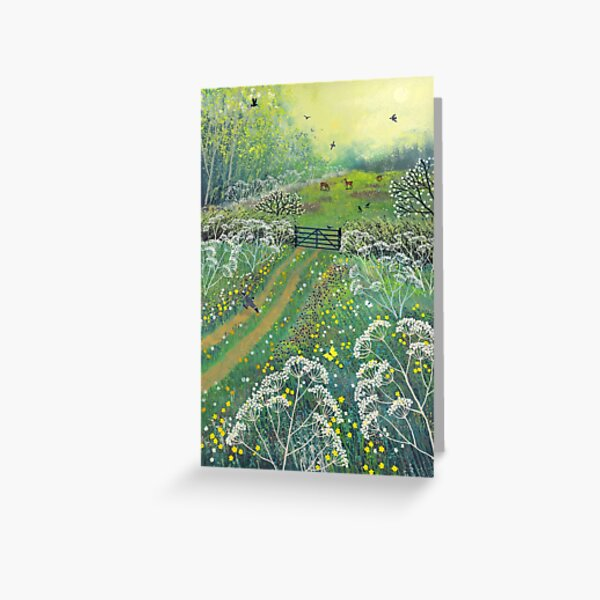 The Gate to May Meadow Greeting Card