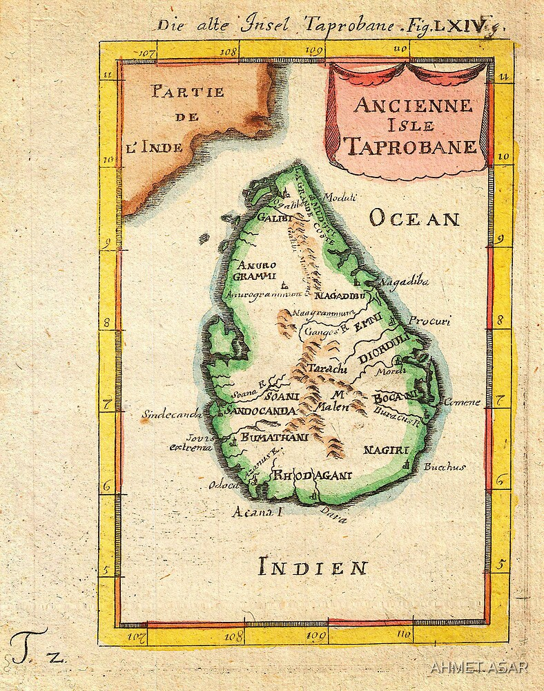 1686 Mallet Map of Ceylon or SriLanka (Taprobane) Geographicus Taprobane mallet 1686 by MotionAge Media
