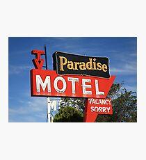 Route 66 - Paradise Motel Photographic Print