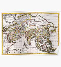 1687 Sanson Rossi Map of Asia Geographicus Asia rossi 1697 Poster
