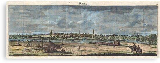 1698 de Bruijin View of Rama Israel (Palestine Holy Land) Geographicus Rama bruijn 1698 by MotionAge Media