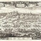 1697 Pufendorf View of Krakow (Cracow) Poland Geographicus Krakow pufendorf 1655 by MotionAge Media