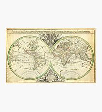 1691 Sanson Map of the World on Hemisphere Projection Geographicus World2 sanson 1691 Photographic Print