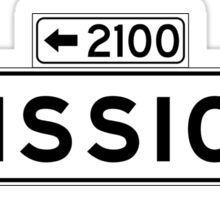 Mission St., San Francisco Street Sign, USA Sticker