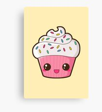 Happy Cupcake Canvas Print