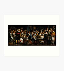Bartholomeus van der Helst Banquet of the Amsterdam Civic Guard in Celebration of the Peace of Münster Art Print