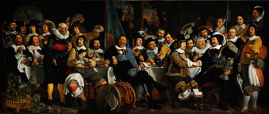 Bartholomeus van der Helst Banquet of the Amsterdam Civic Guard in Celebration of the Peace of Münster by MotionAge Media