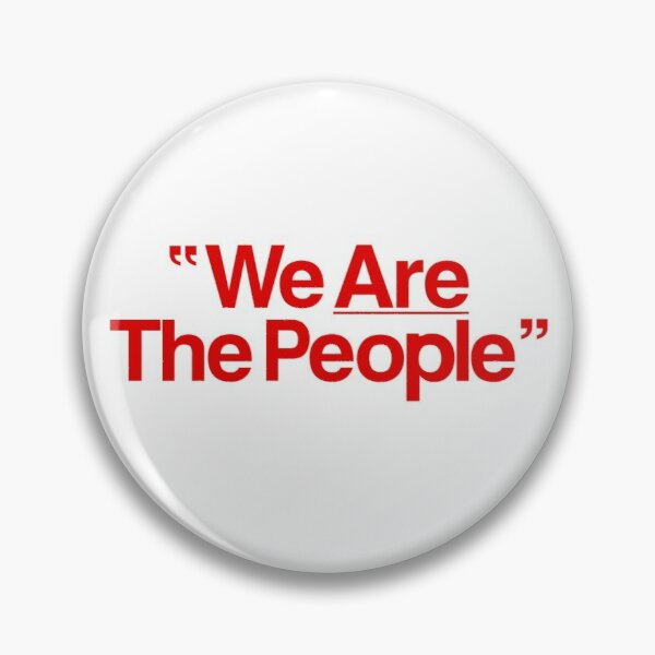 We Are The People Taxi Driver Pin