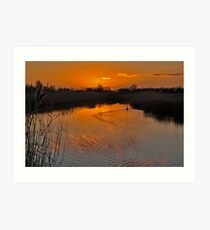 Sunset in Renesse Art Print