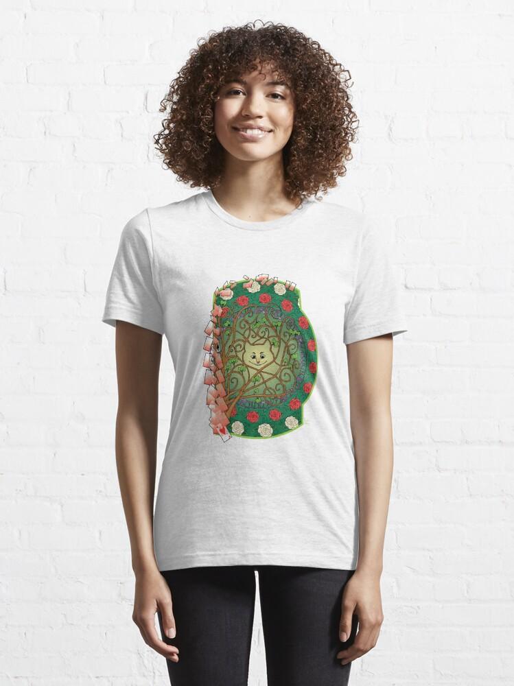 Alternate view of Cat Nouveau Essential T-Shirt