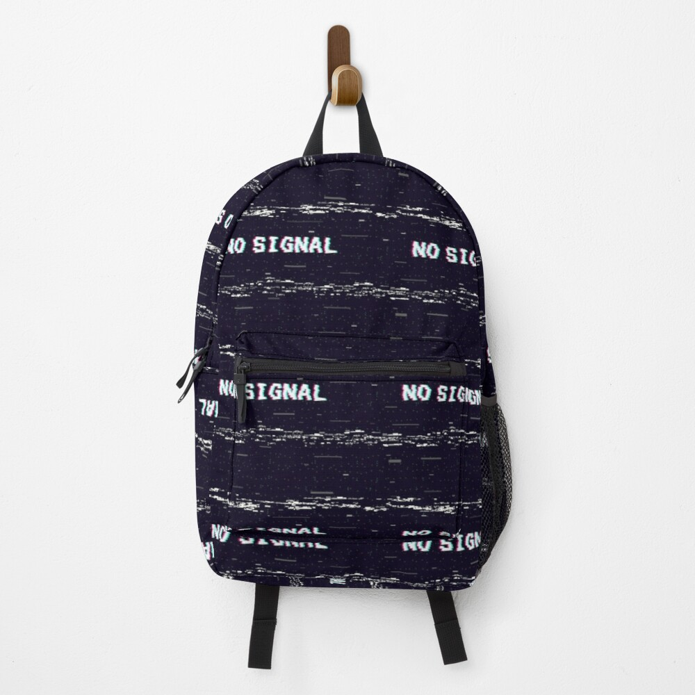 VHS No Signal Glitch Backpack