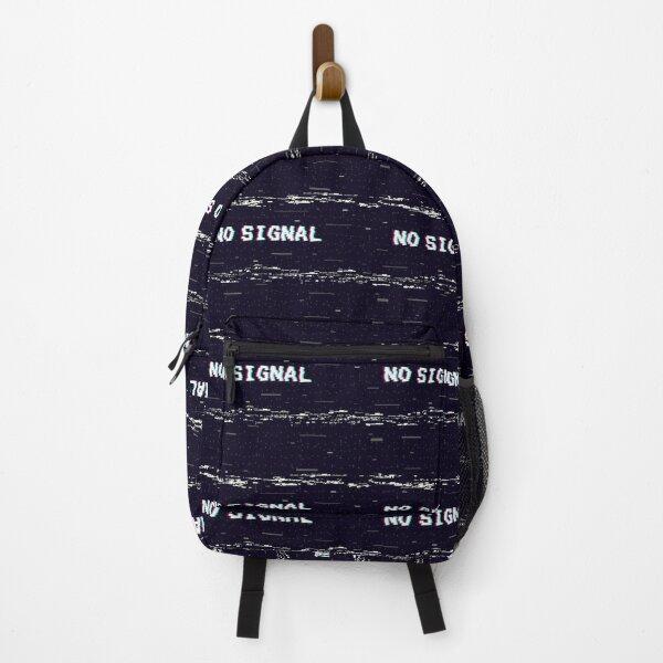 VHS No Signal Glitch Backpack