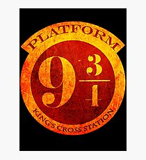 Platform 9 3/4 Photographic Print