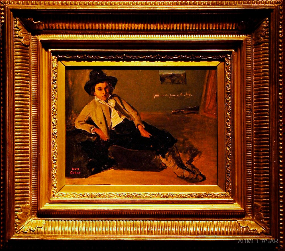 Camille Corot Jeune italien assis by MotionAge Media
