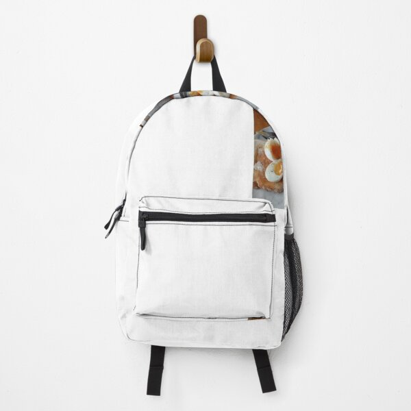 Eggs and toast photo , Breakfast  Backpack
