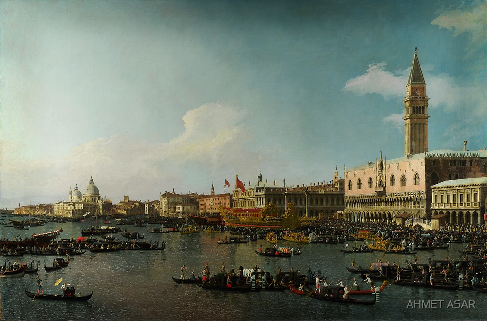 Canaletto  Venice The Basin of San Marco on Ascension Day by MotionAge Media