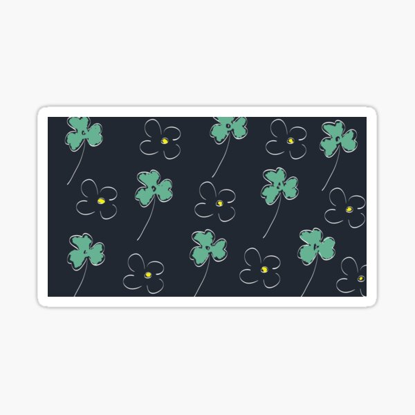 Clovers and Flowers Sticker