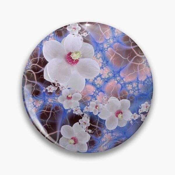 Magnolia Storm - Pink Purple Blue Flower Fractal Pin
