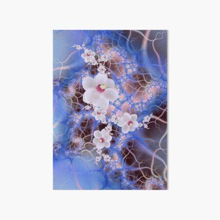Magnolia Storm - Pink Purple Blue Flower Fractal Art Board Print