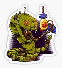 RobotReptileRaygun Sticker