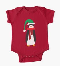 Cute Holiday Penguin One Piece - Short Sleeve