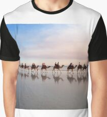 Camel Train at Dusk Graphic T-Shirt