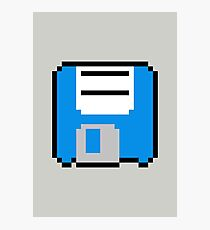 Floppy Disk - Blue Photographic Print