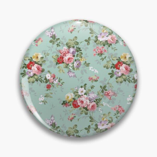 Elegant vintage pink roses floral pattern  Pin