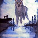 The lonesome wolf by Heidi Mooney-Hill