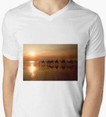 Camels at Sunset Men's V-Neck T-Shirt