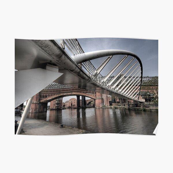 Merchants Bridge, Castlefield Area of Manchester Poster