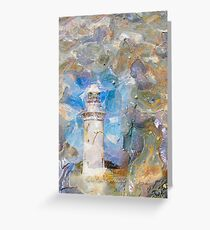 Lighthouse on Stone Greeting Card